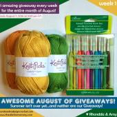 Awesome August of Giveaways - Week 1: Clover Amour Hook Set and Knit Picks Yarn