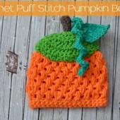 Crochet Puff Stitch Pumpkin Beanie - Free Pattern