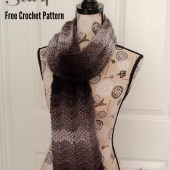 Ombre Chevrons Scarf - Free Crochet Pattern