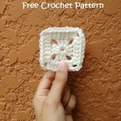 3 Inch Solid Granny Square - Free Crochet Pattern