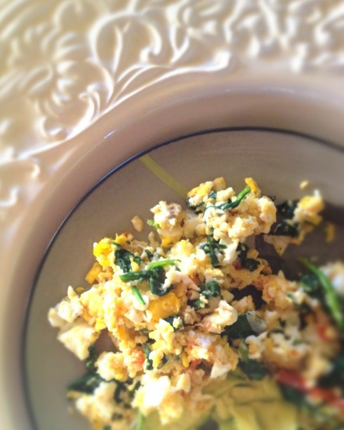 breakfast egg scramble