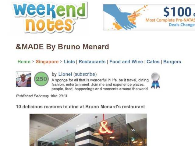 &MADE – Weekend Notes