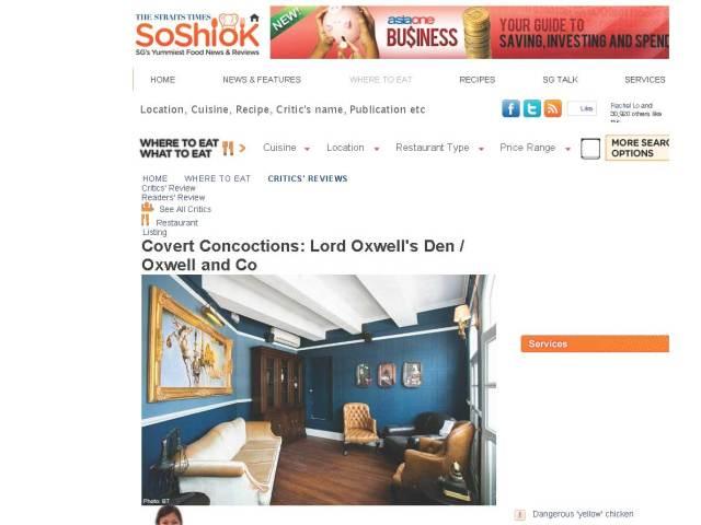 Oxwell & Co – Straits Times So Shiok