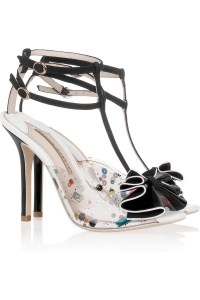 Sophia Webster PVC and black leather bow