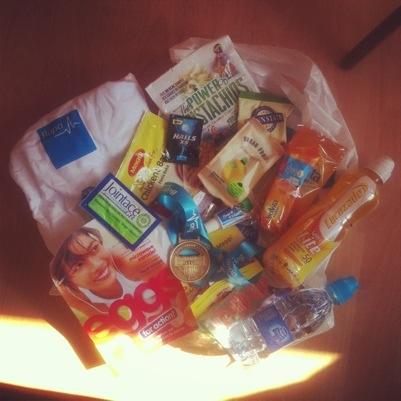 Bupa London 10000 goody bag