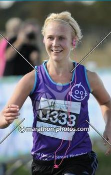 Smiling at the finish line