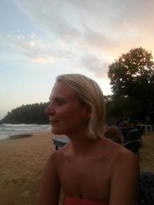 Enjoying the sunset on Mirissa beach, Sri Lanka
