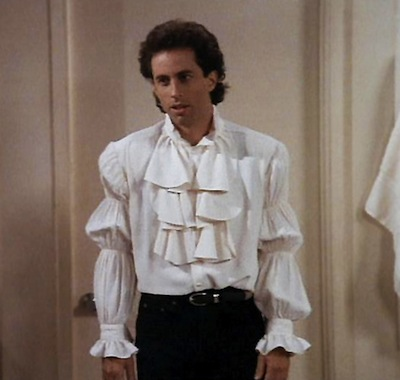 "Seinfeld's Infamous Puffy Shirt. ""But I don't wanna be a pirate!"""