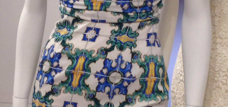 Dress: Dolce & Gabbana Tile & Fruit-Print Sleeveless Dress, $2,445 (Barneys)