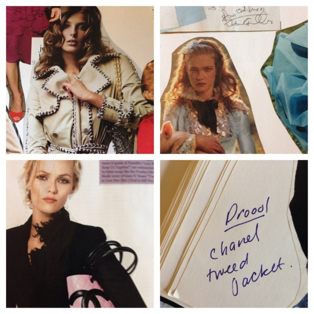 Four of the Chanel references in my fashion scrapbooks.