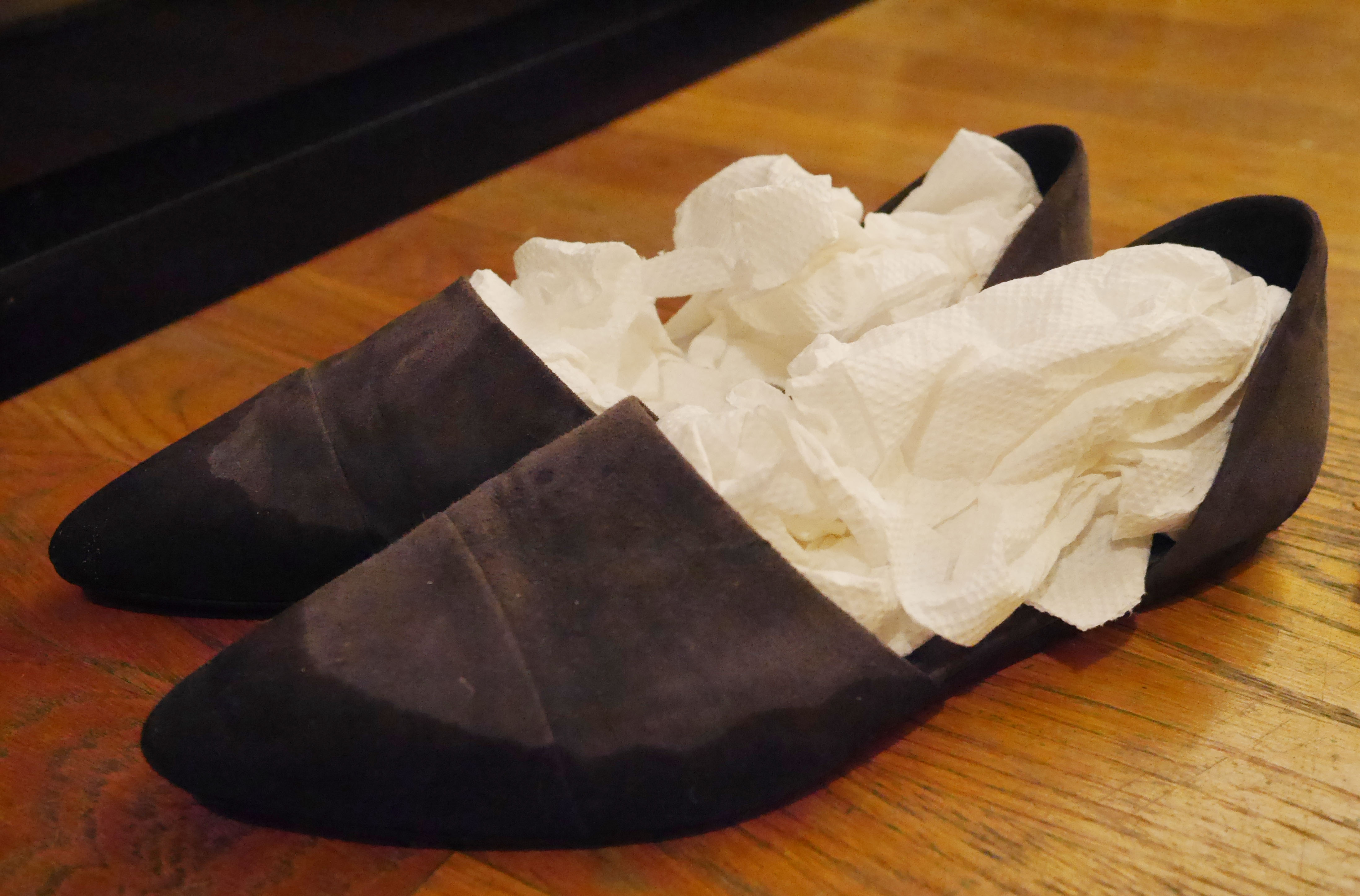 How To Repair Suede Shoes That Got Wet