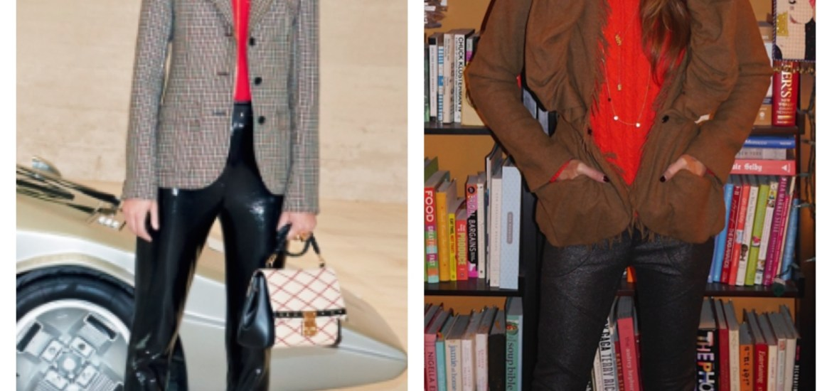 Left: The LV campaign for fall ready-to-wear. Right: My interpretation.
