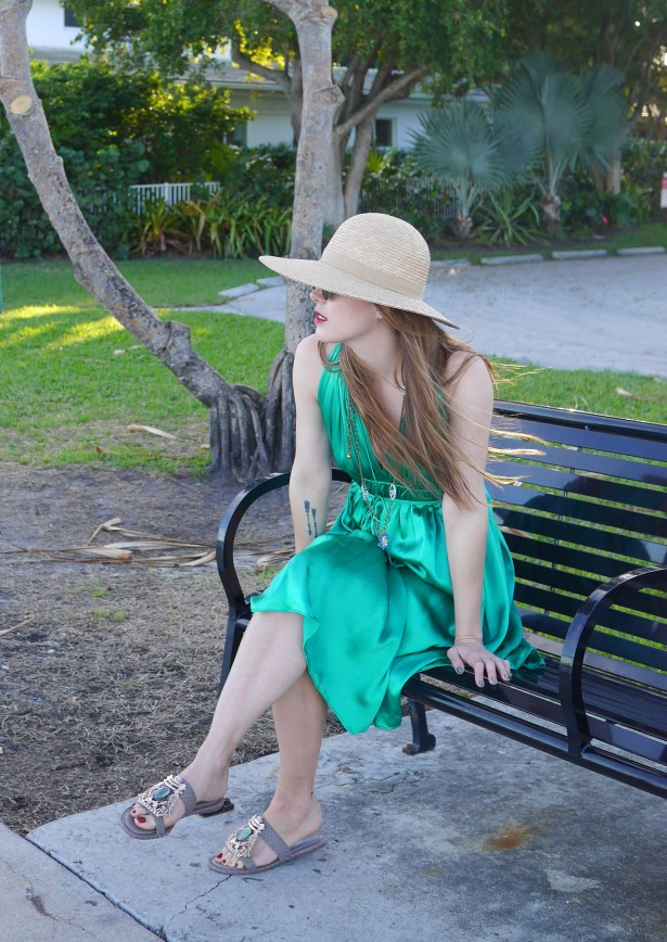 Hat: Liz Claiborne | Dress: 3.1. Phillip Lim (Consignment) | Shoes: Ivy Kirzhner (Saks Off Fifth -- borrowed from mom)