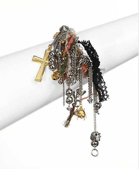 Saint Laurent Cluster Charm Bracelet, $1,256