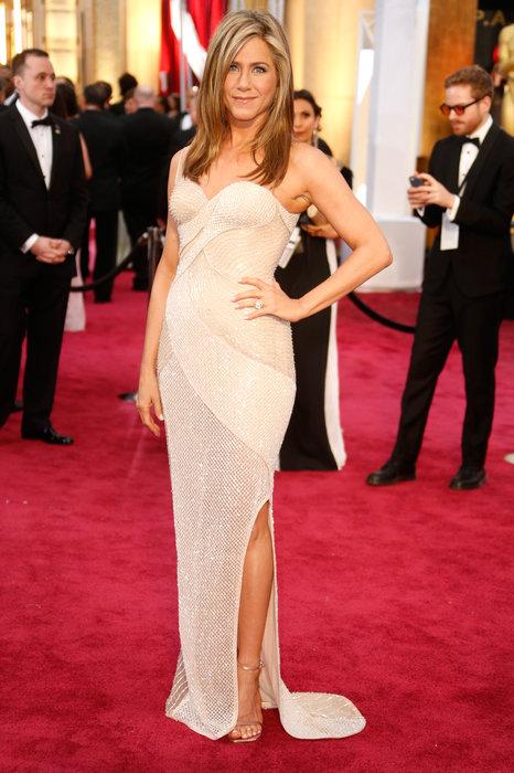 Jennifer Aniston in Versace.