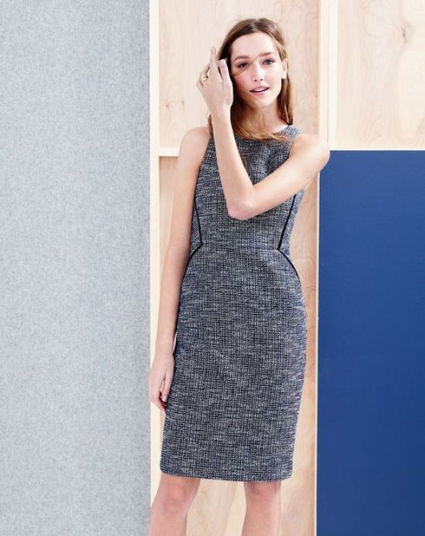 $178 Shimmer Tweed Dress