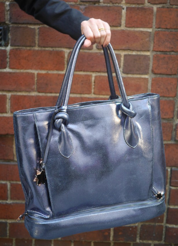 The Brilliant Body bag in Pewter. $265, available here.