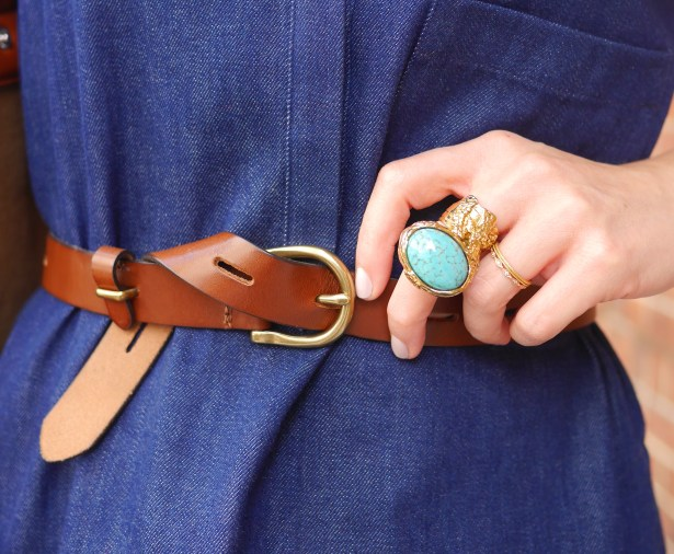 Belt: Madewell | Turquoise Ring: YSL