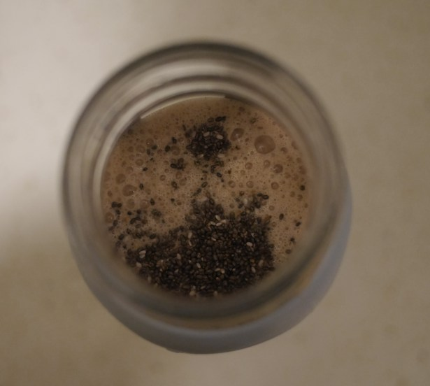 Finishing touch: a sprinkling of raw chia seeds.