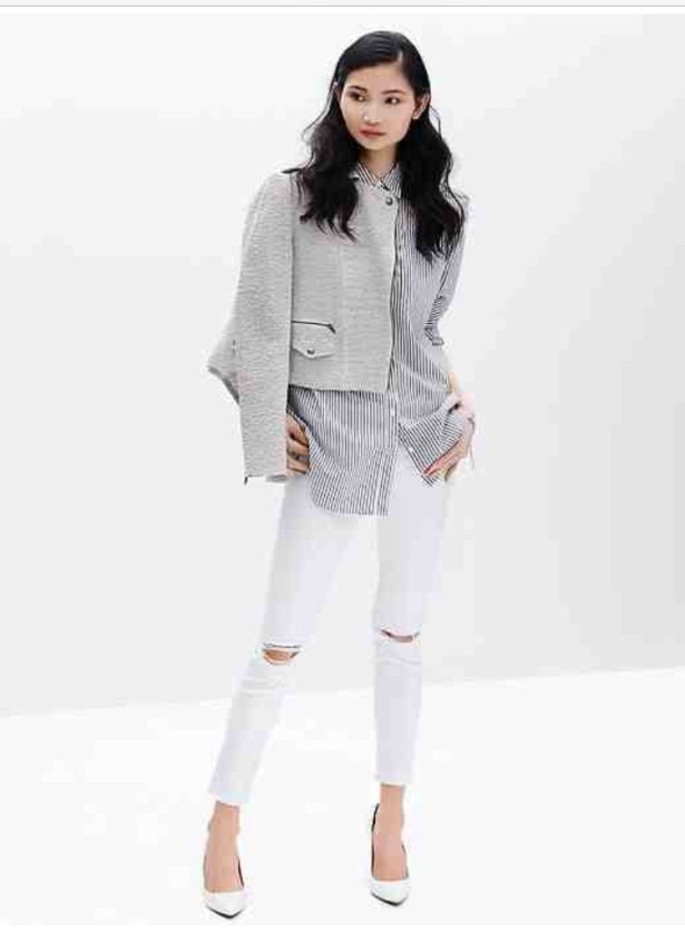 My inspiration came from this look by Banana Republic.