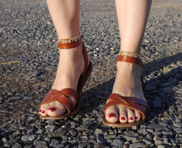 Sandals: Isabel Marant (Consignment) | Indian Anklets: Wedding Gift