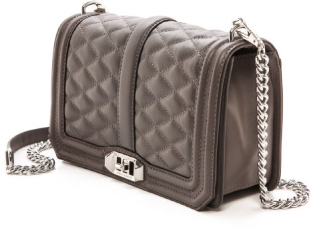 A more affordable option: Rebecca Minkoff Love Cross Body Bag in Gray, $295