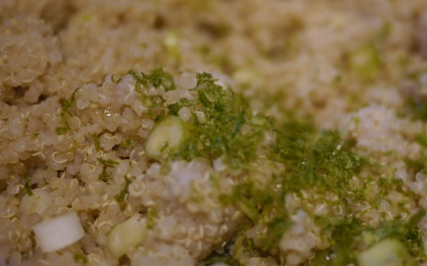 For zingy flavor, mix in lime zest and scallions with the quinoa.