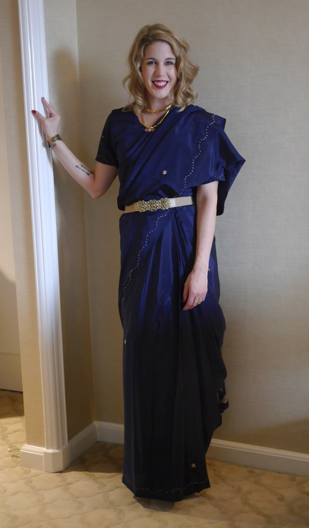 My mother-in-law lent me this sari for my sister's wedding.