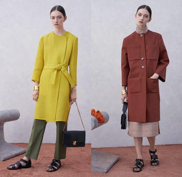trademark-burch-new-york-fashion-week-2015-spring-summer-womens-india-long-coat-ribbon-sash-waist-sandals-shirtdress-plaid-scarf-midi-skirt-stripes-02x