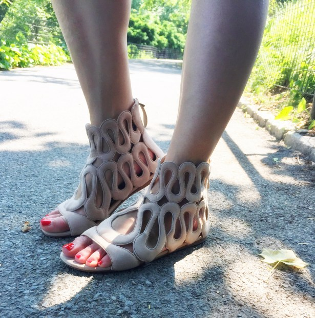Cage sandals: Alaia (Consignment)