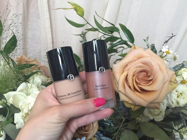 Giorgio Armani Luminous Silk Foundation (Shade 5) | Giorgio Armani Fluid Sheer (Shade 3)