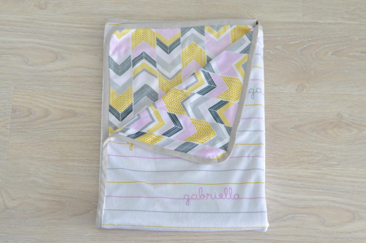 Designed by Stefanie: Custom Name Printed Baby Blanket