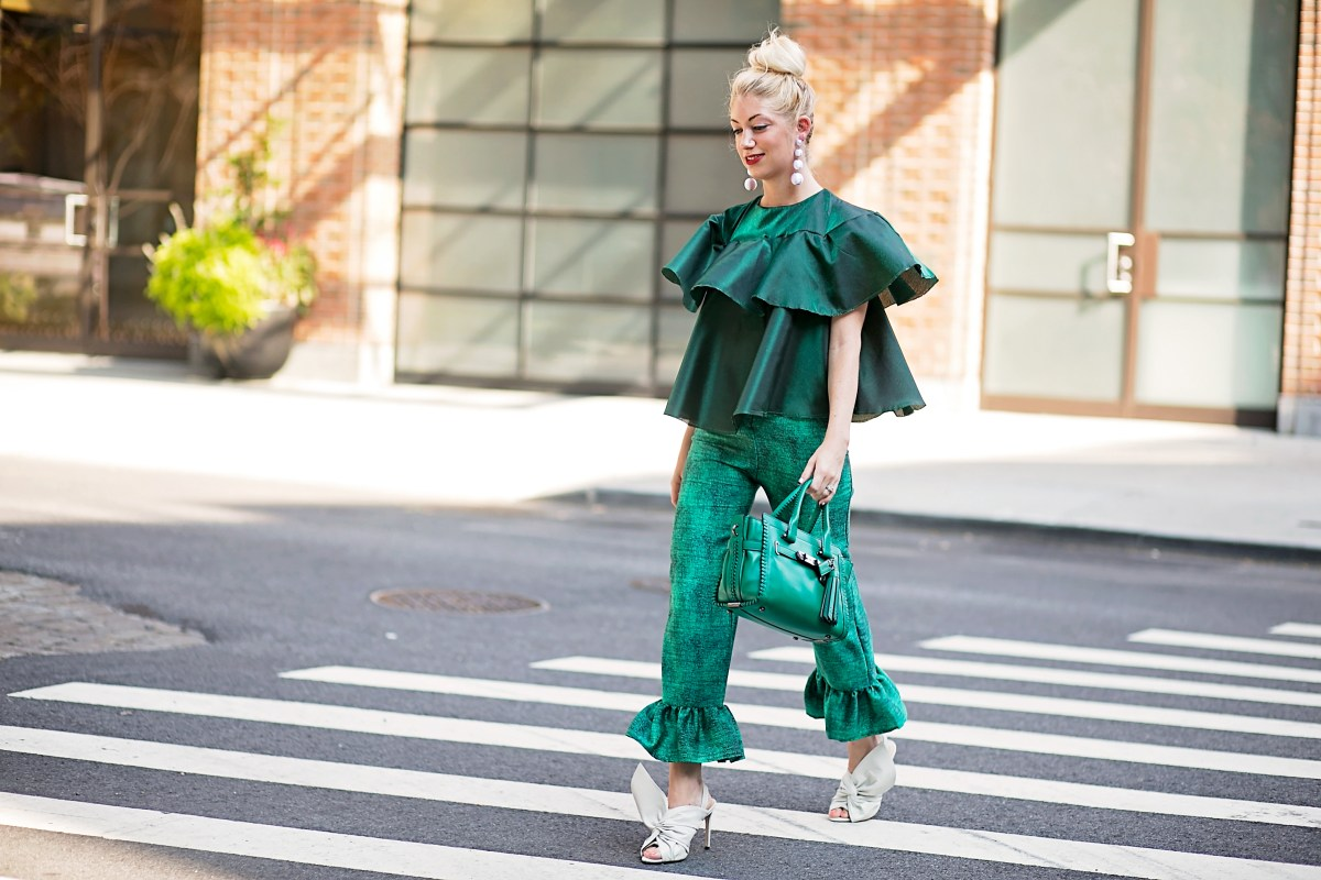 Designed by Stefanie: Green Ruffles + Project RealWay Launch!