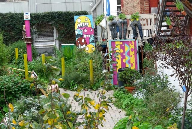 Urban garden, Hayes Valley, San Francisco