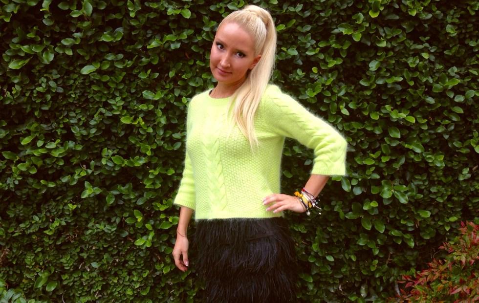 #OOTD - ostrich feather skirt