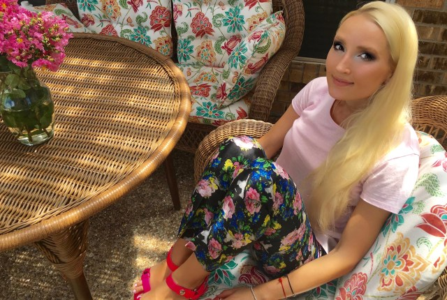 Liliya in floral and pink