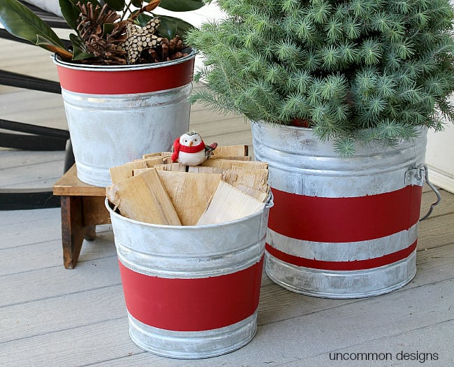 aged-striped-galvanized-buckets-uncommon-designs