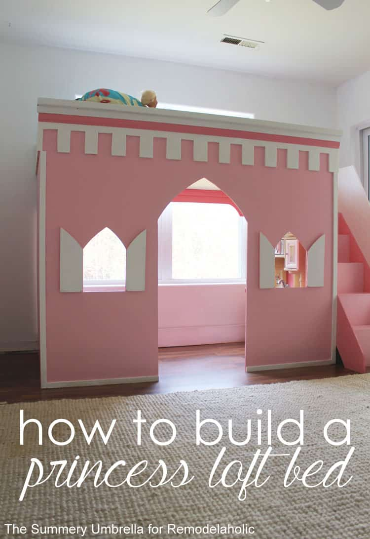Learn how to build a princess castle loft bed with this AWESOME tutorial! Your little princess definitely deserves a gorgeous place of her own!