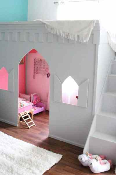 Aqua and Pink Girl's Room Makeover
