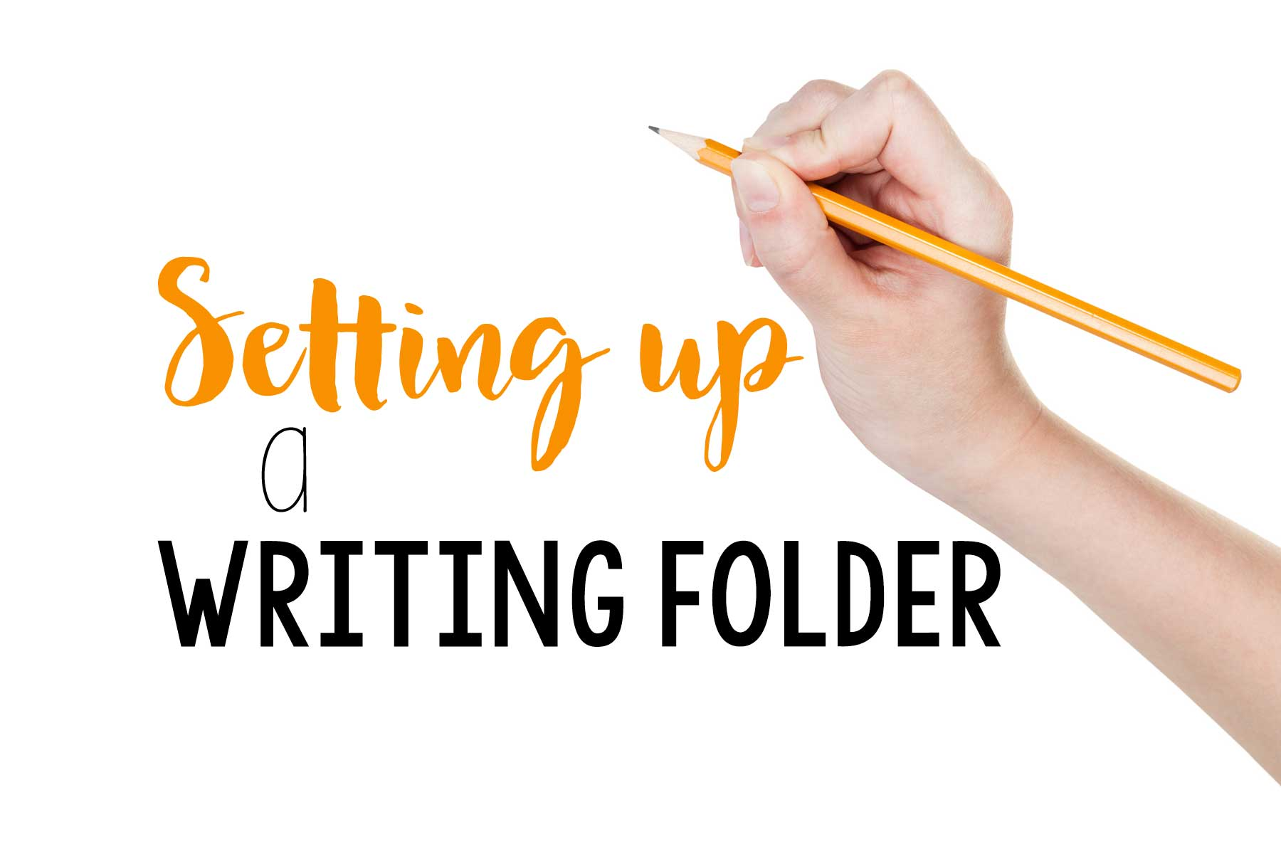 Great ideas for setting up a writing folder.