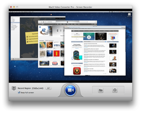 MacX Screen recorder
