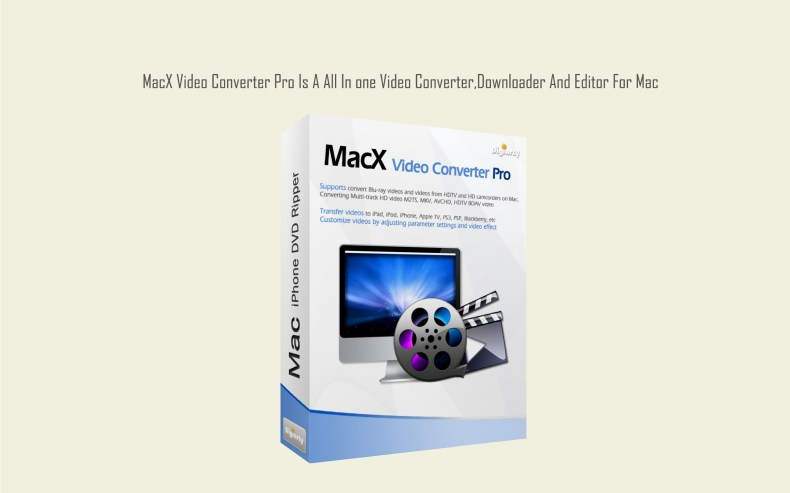 MacX Video Converter Pro Is A All In one Video Converter,Downloader And Editor For Mac