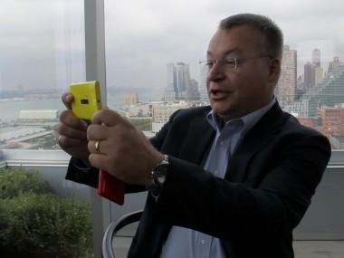 Nokia CEO Elop with Lumia