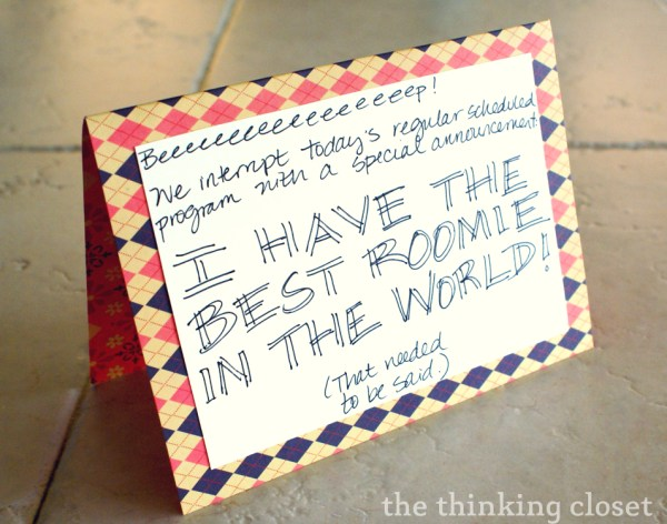 The Art of the Surprise Note via The Thinking Closet