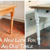 A New Look For An Old Table