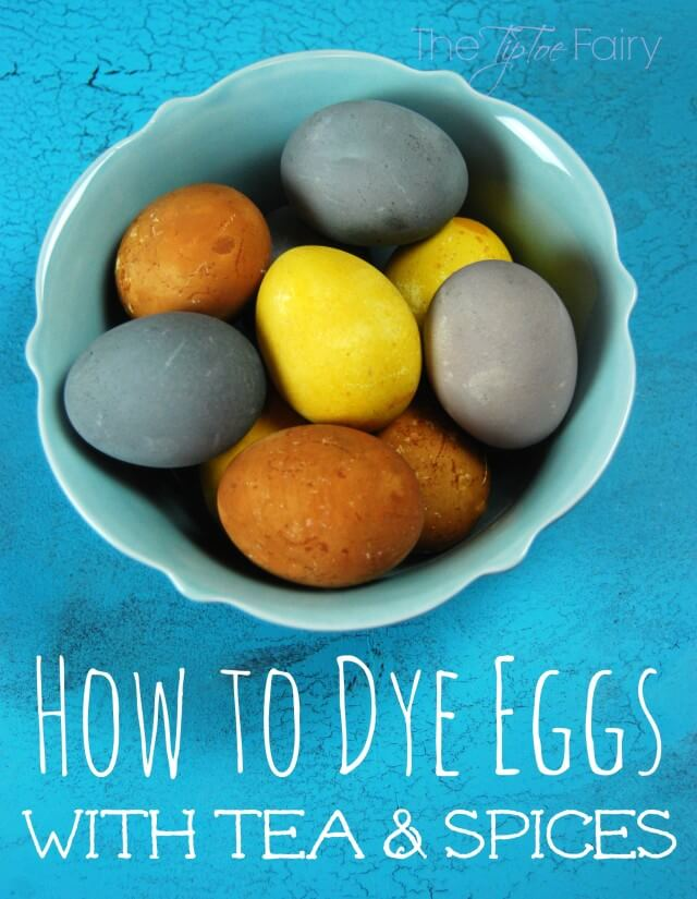 How to Dye Eggs with Tea & Spices ##aster AD #DIY #craft