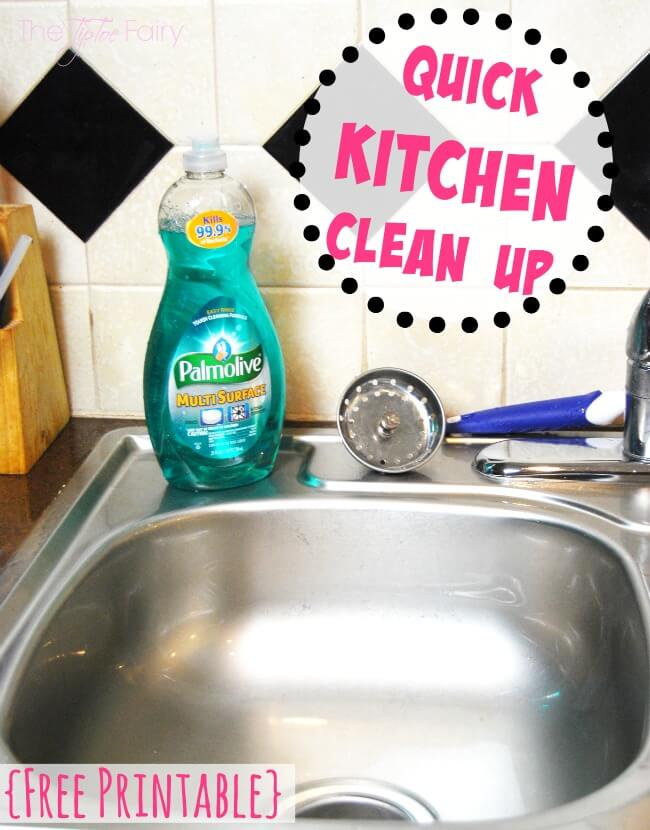 Clean Your Kitchen in 10 minutes with Quick Kitchen Cleaning Tips and a FREE PRINTABLE!! | The TipToe Fairy #PalmoliveMultiSurface #Ad