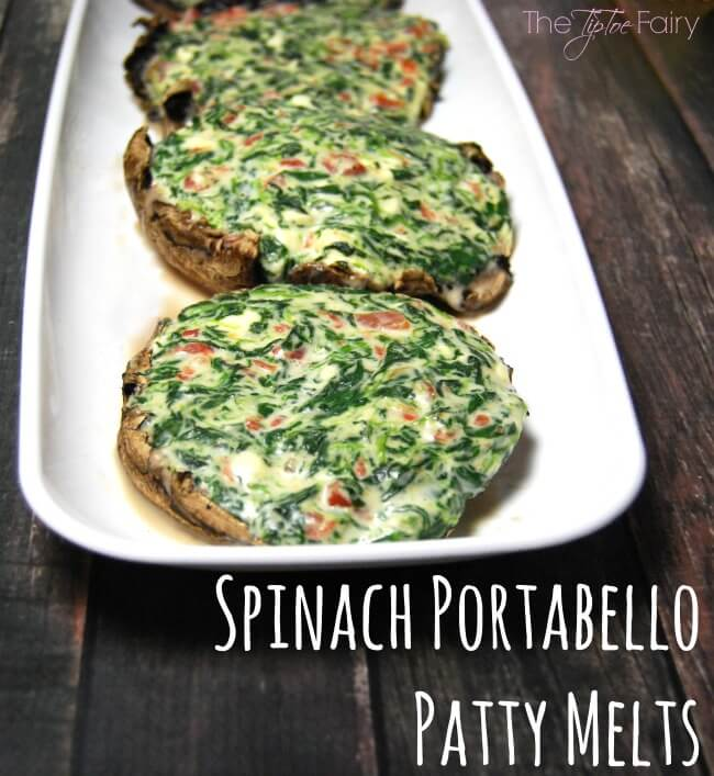 Spinach Portabello Patty Melts with @EatLiquidGold - A great alternative for veggie cuisine at a barbecue! #LiquidGold5 #ad | The TipToe Fairy