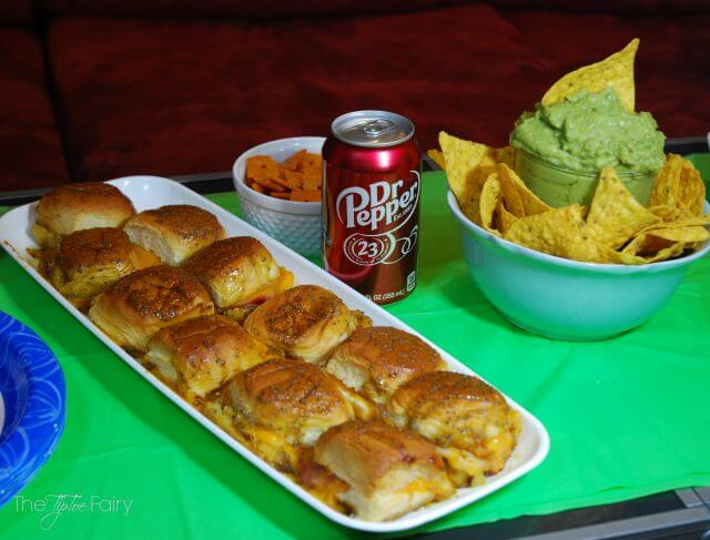 Hot & Cheesy Ham Sliders and Game Day Greats with Dr. Pepper® #ad | The TipToe Fairy