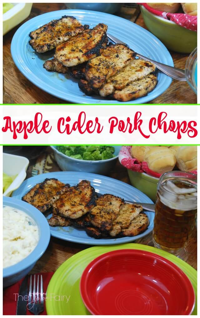 Apple Cider Pork Chops - easy, tender, and juicy! Perfect for weeknight meals! #SmithfieldPork AD | The TipToe Fairy
